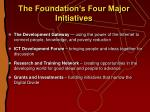 the foundation s four major initiatives