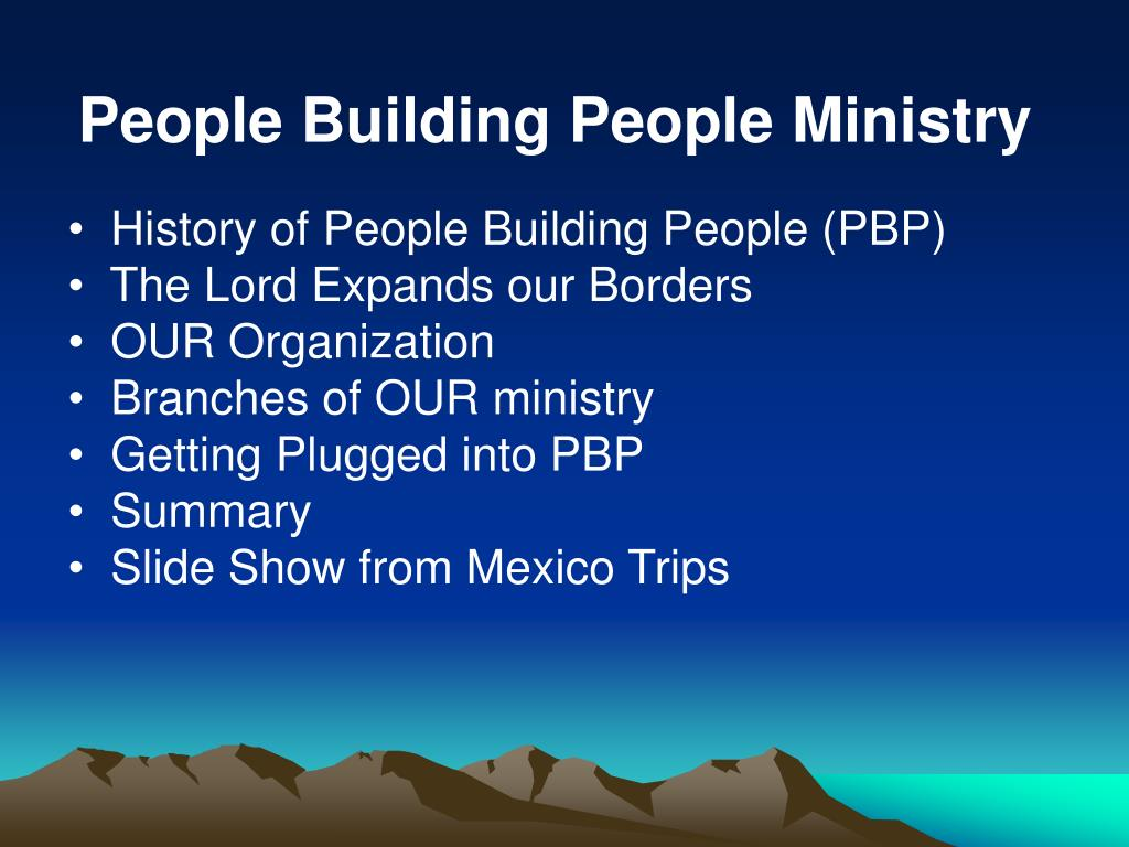 People Building People Ministry