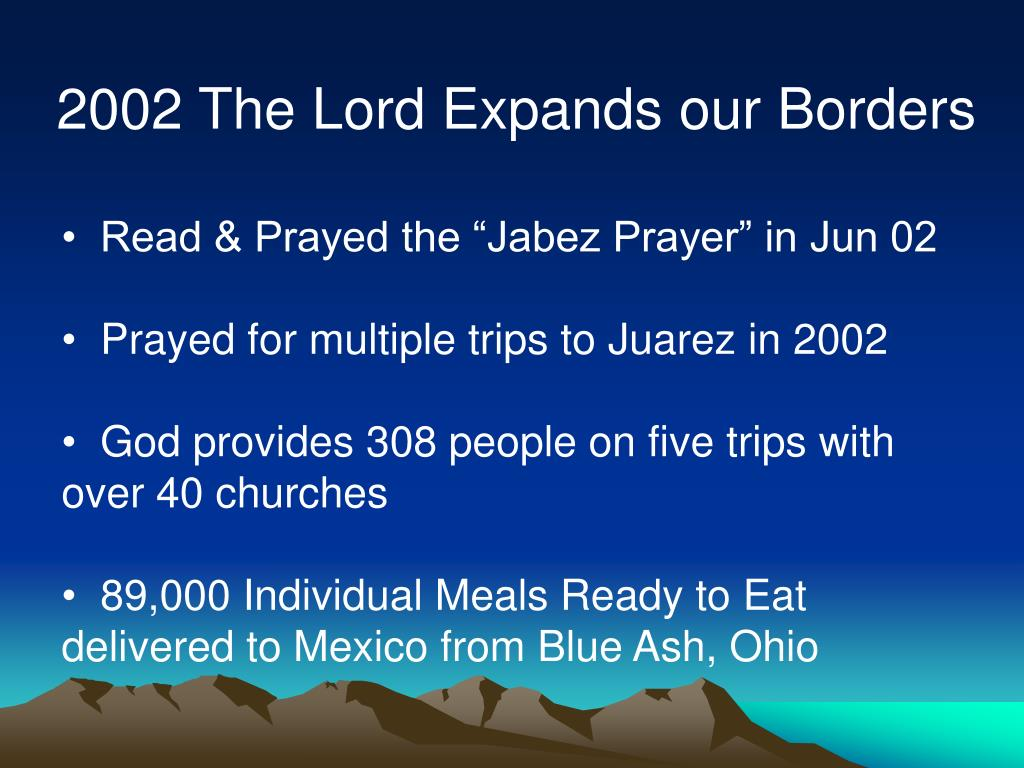 2002 The Lord Expands our Borders
