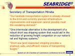secretary of transportation mineta