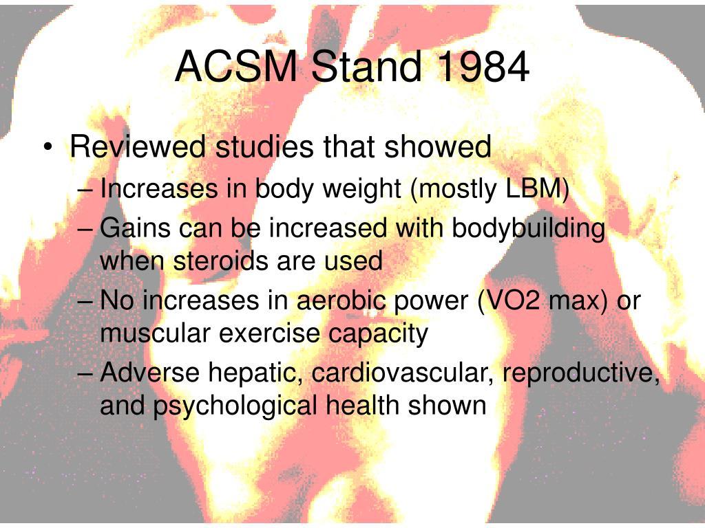 ACSM Stand 1984