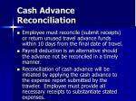 cash advance reconciliation