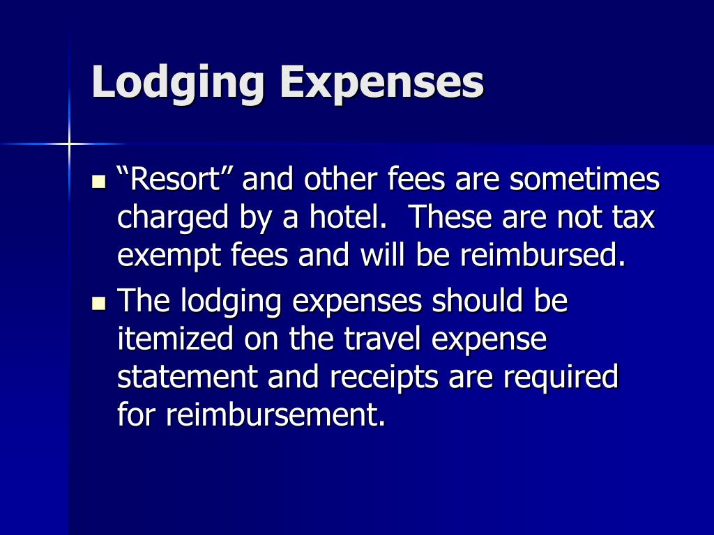 Lodging Expenses