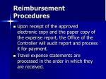reimbursement procedures47