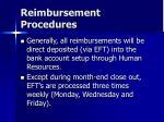 reimbursement procedures48