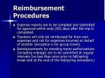 reimbursement procedures49
