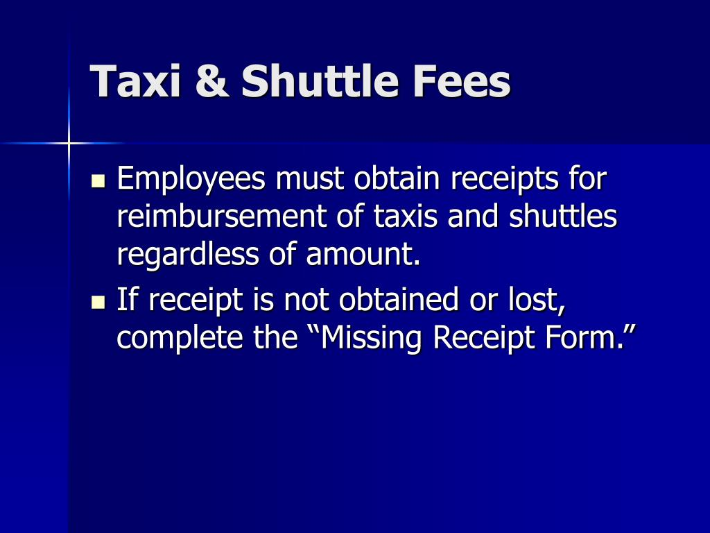 Taxi & Shuttle Fees