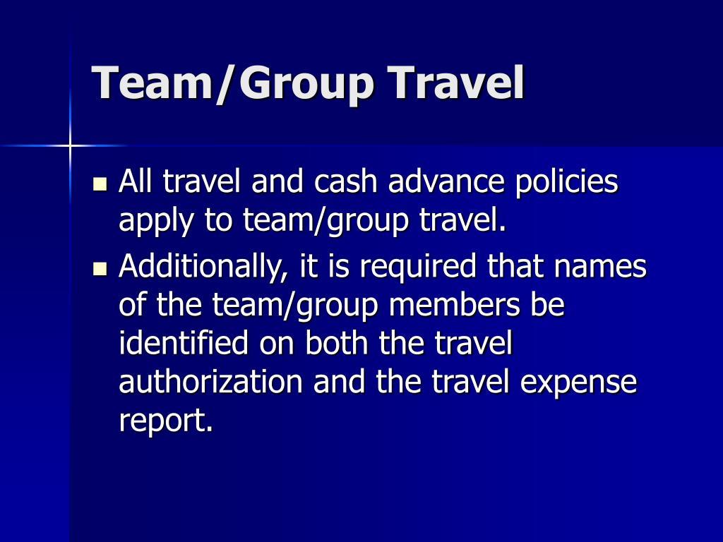 Team/Group Travel