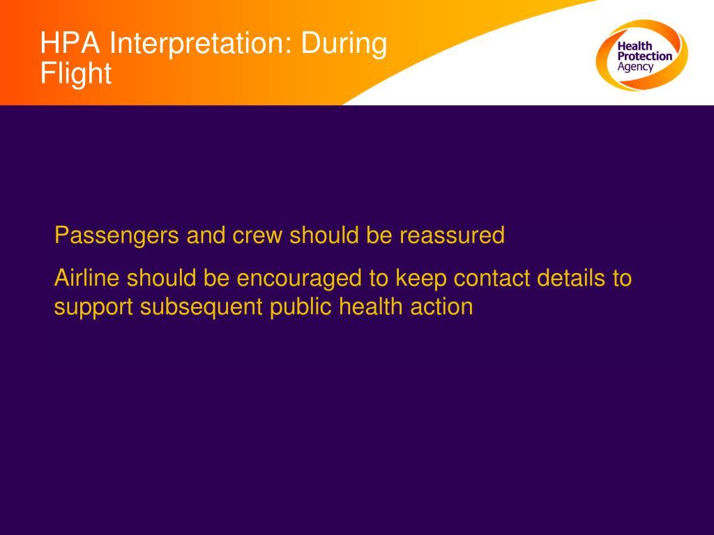 HPA Interpretation: During Flight