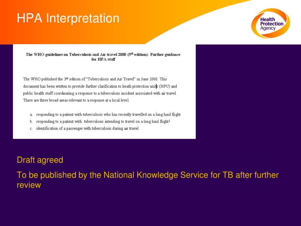 HPA Interpretation