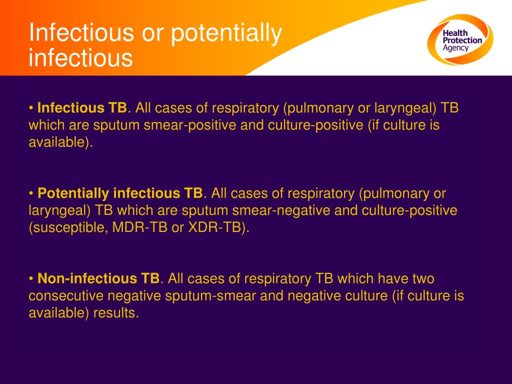 Infectious or potentially infectious