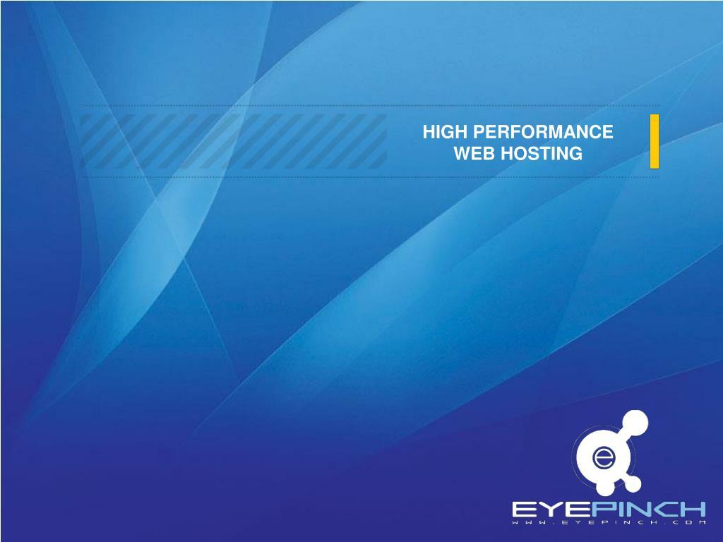high performance web hosting l.