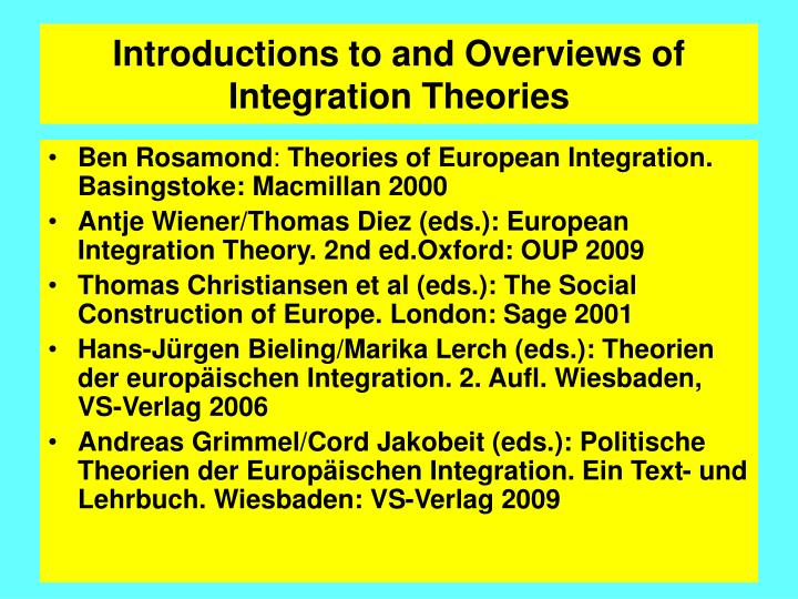 complexity of european integration Finally the article approaches to complexity theory in social sciences to tend new perspectives on the roma issue in the europe with these new theories and brings some approaches and questions under the umbrella of complexity about the integration of roma in eu.