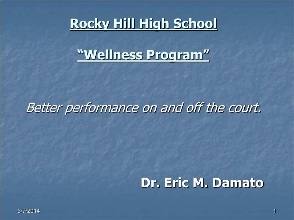 rocky hill high school wellness program l.