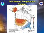 full season temperature outlook