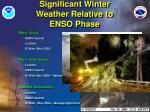 significant winter weather relative to enso phase