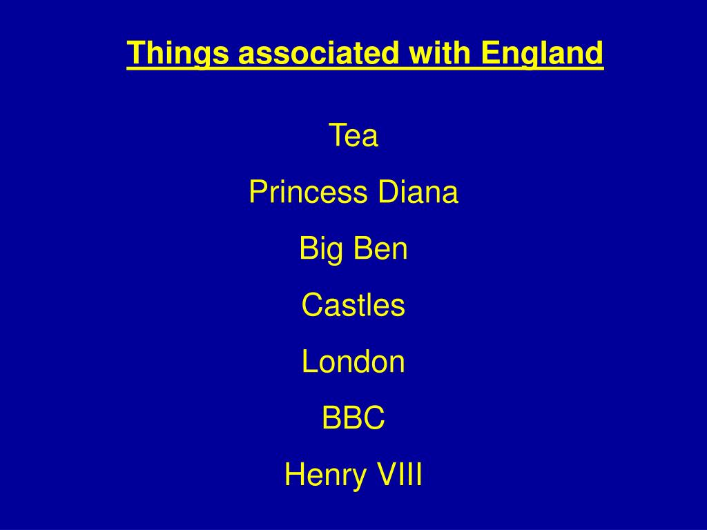 Things associated with England