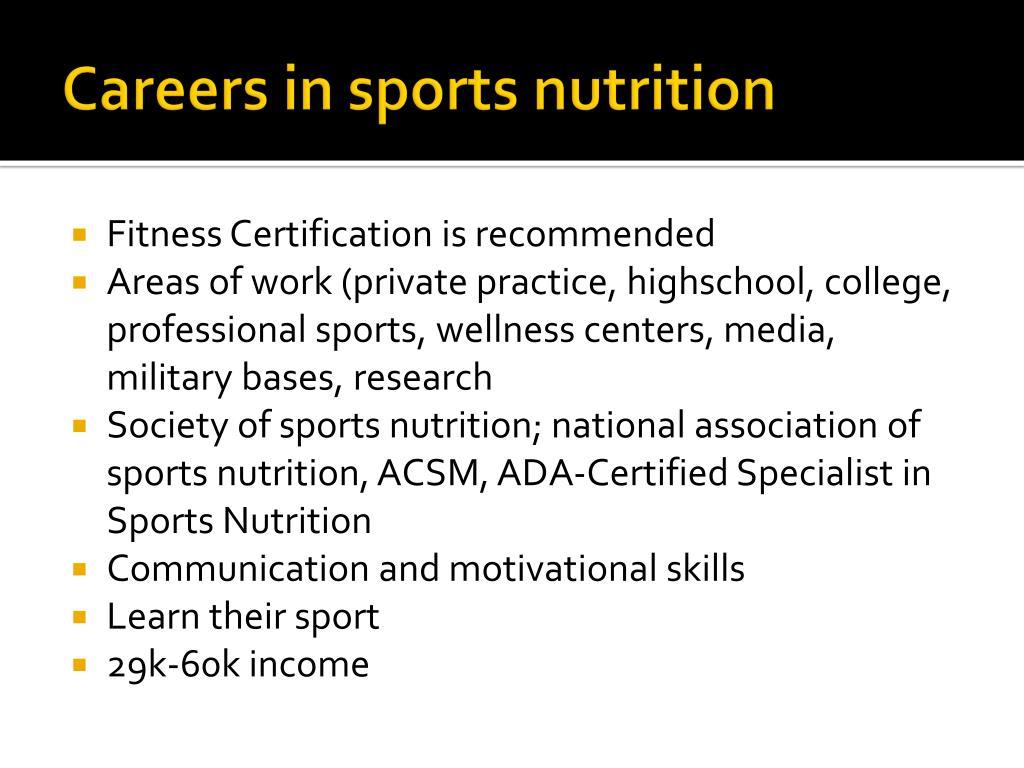 PPT - Sports Nutrition: Jim White ADA Spokesman, RD, ACSM