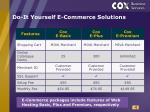 do it yourself e commerce solutions