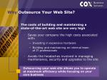 why outsource your web site