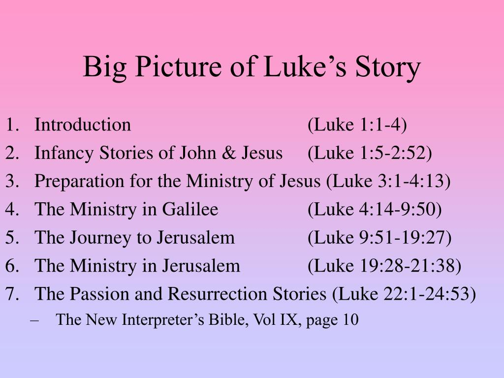 Big Picture of Luke's Story
