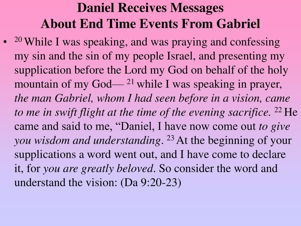 Daniel Receives Messages