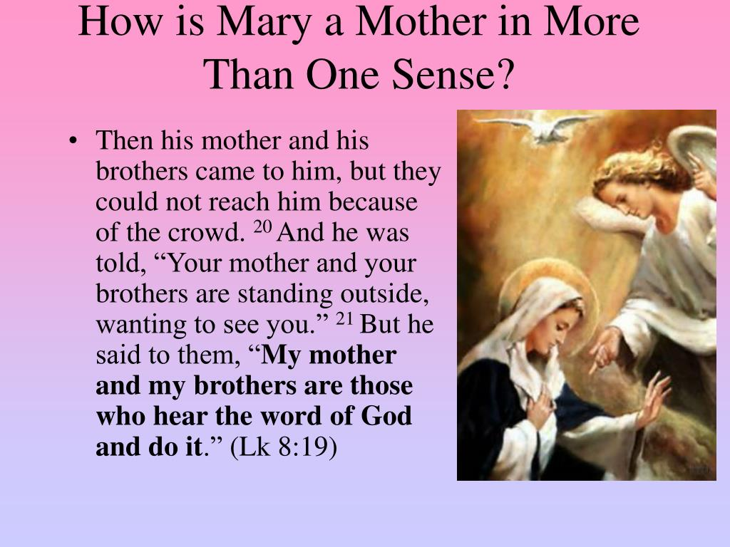 How is Mary a Mother in More Than One Sense?