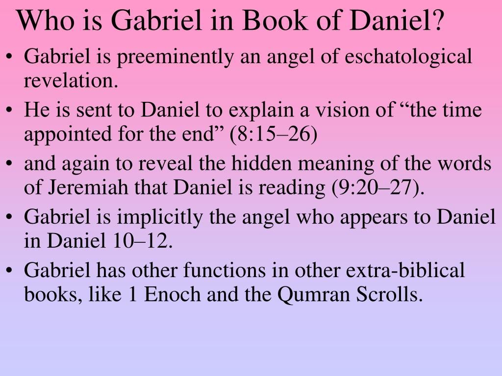 Who is Gabriel in Book of Daniel?