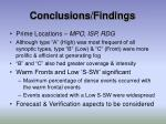 conclusions findings