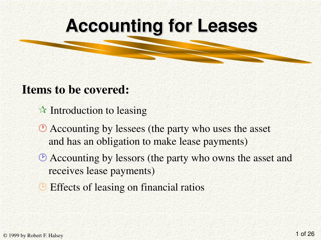 accounting for leases l.