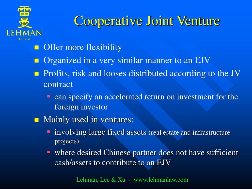 Cooperative Joint Venture