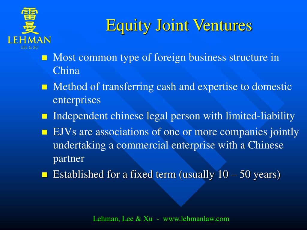Equity Joint Ventures