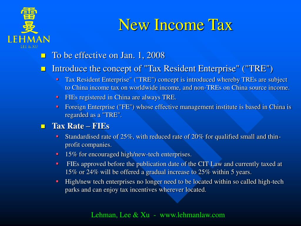 New Income Tax