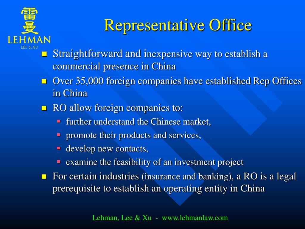 Representative Office