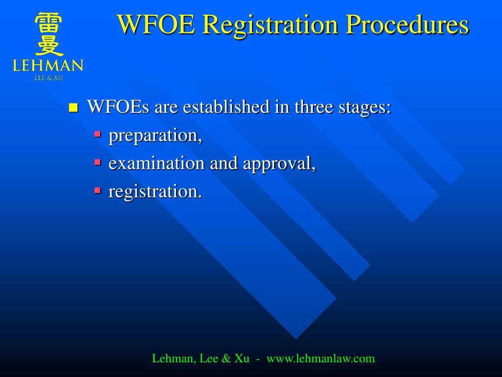 WFOE Registration Procedures