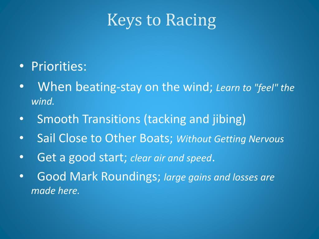 Keys to Racing