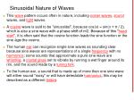 sinusoidal nature of waves38