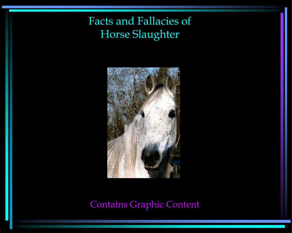 facts and fallacies of horse slaughter l.