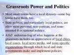 grassroots power and politics