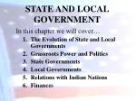 state and local government2