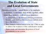 the evolution of state and local governments