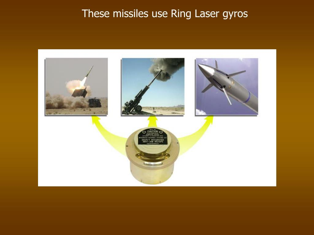 These missiles use Ring Laser gyros