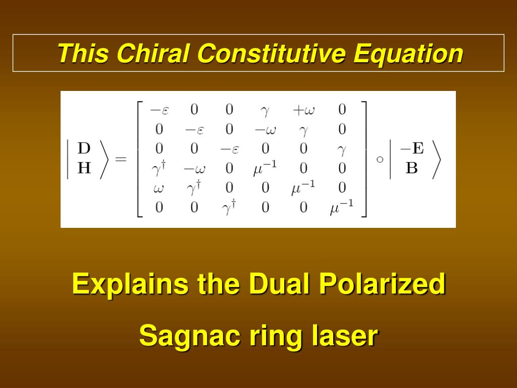 This Chiral Constitutive Equation