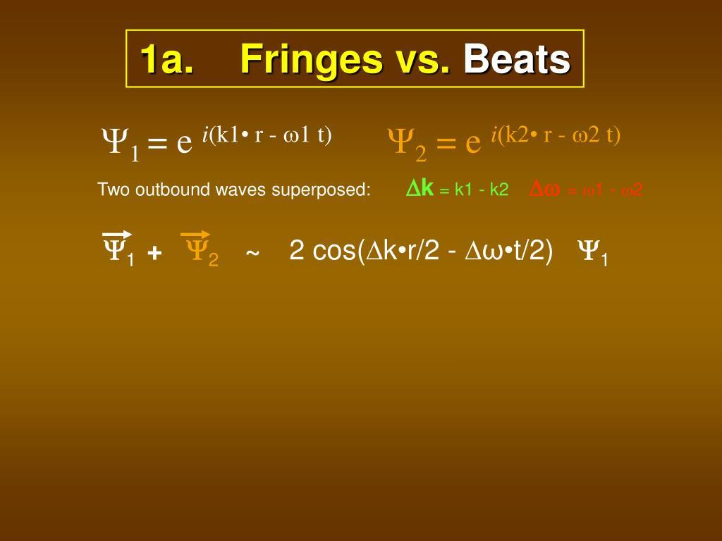 1a.    Fringes vs.