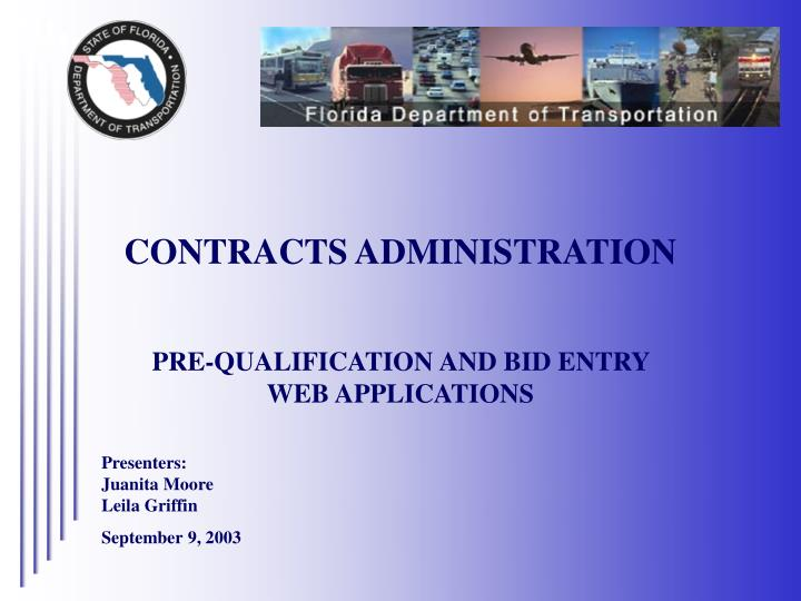 contracts administration n.