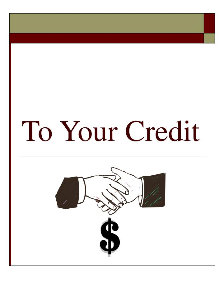 to your credit n.