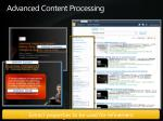 advanced content processing