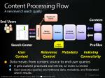 content processing flow a new level of search quality