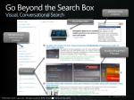 go beyond the search box visual conversational search