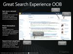 great search experience oob
